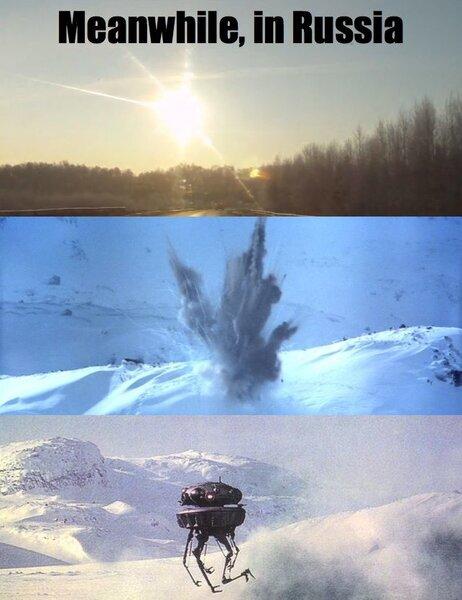 Image result for russian meteor meme