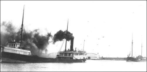 Image result for ship towing schooner barge