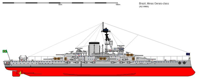 WARSHIPSRESEARCH: Brazilian battleship Minas Geraes 1907-1954