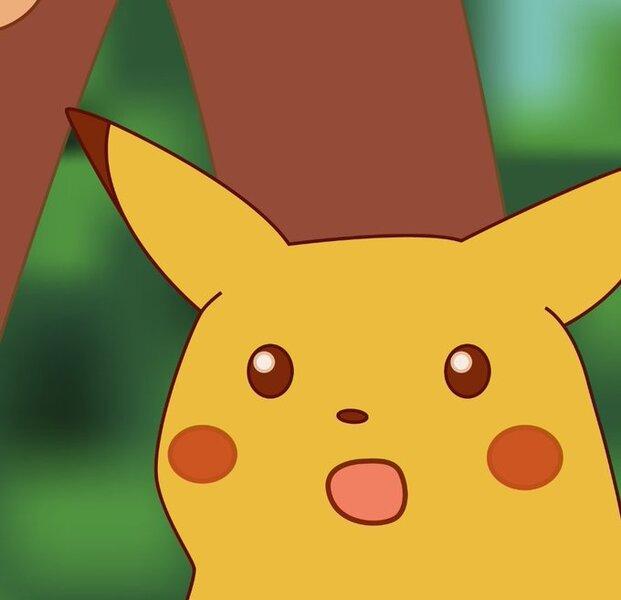 Image result for shocked pikachu