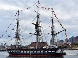 Old Ironsides goes out for a quick run around Boston Harbor ...
