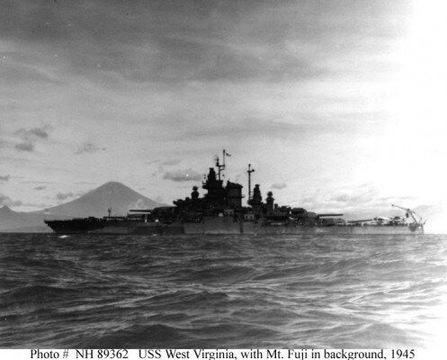 USSWestVirginiaInFrontOfMtFuji-497x400.j