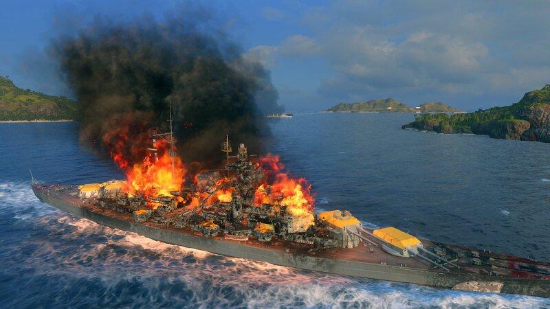 Bismarck Brawling Burn - General Game Discussion - World of Warships  official forum