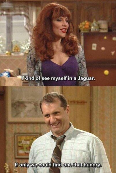 Image result for jaguar joke bundy