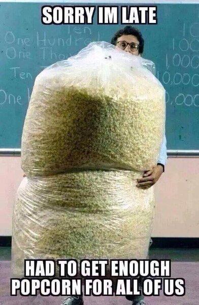 Image result for popcorn meme