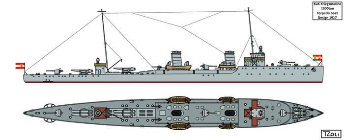 1000ton Torpedo Boat Design
