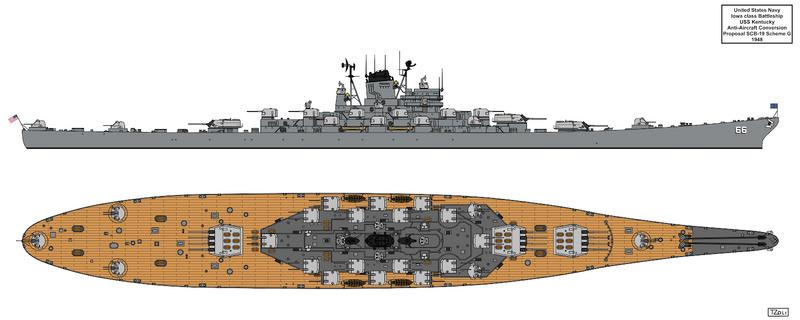 Anti-Aircraft Cruiser-Battleship USS Kentucky G by Tzoli on DeviantArt