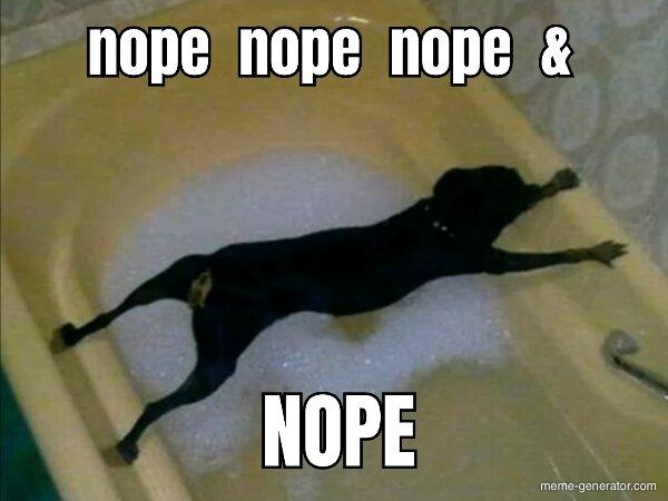 nope nope nope & NOPE - Meme Generator