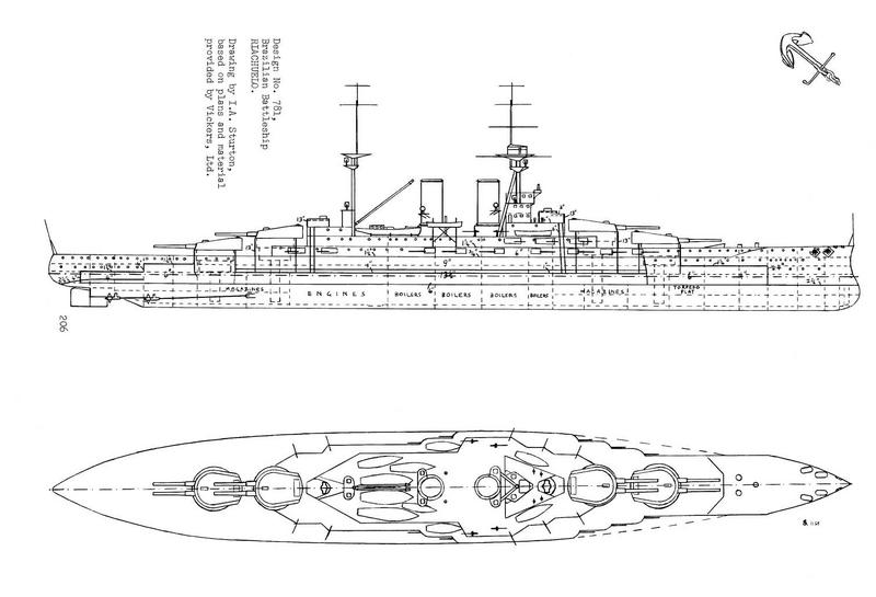 "Armstrong's proposals for Brazilian ""Riachuelo"" battleships ..."
