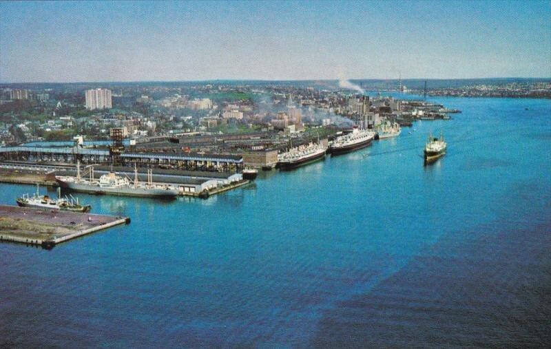 HALIFAX, Nova Scotia, Canada, 1940-1960's; The Port Of Halifax / HipPostcard