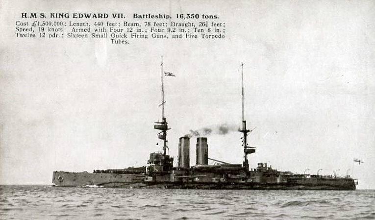 KING EDWARD VII BATTLESHIP 1906-1916 - WRECK WRAK EPAVE WRACK PECIO