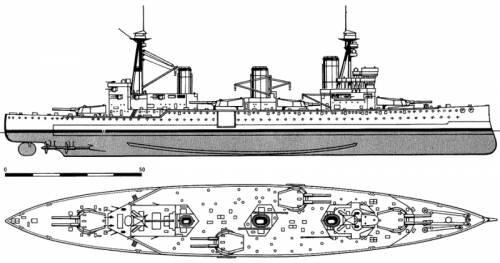 Blueprints > Ships > Ships (UK) > HMS Indefatigable (Battlecruiser ...